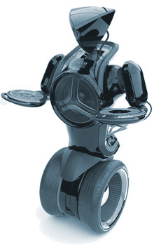 футу-робот на колёсах