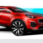 Скетчи нового Kia Sportage